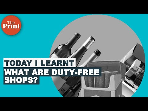 What is duty-free and why does it store cheaper alcohol and other goods?
