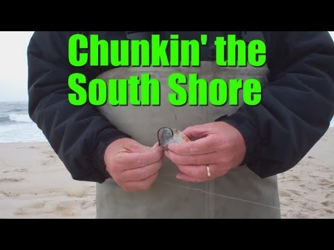 Surfcasting for Striped Bass and Bluefish during Local Surf Fishing Contest - South Shore Classic