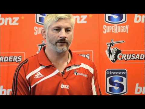 Crusaders coach Blackadder talks about the 2012 season