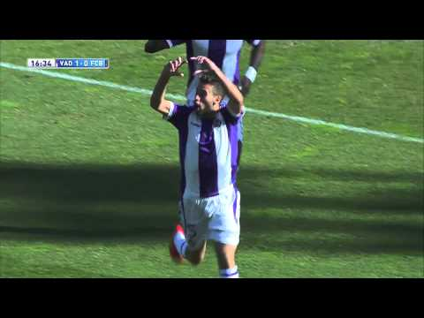 Gol de Rossi (1-0) en el Real Valladolid - FC Barcelona - HD