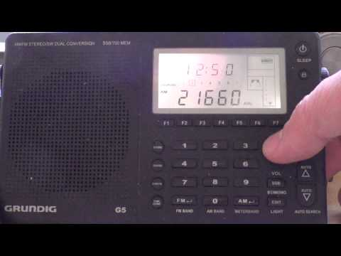BBC 21660 khz on Grundig G5