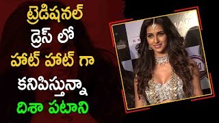 Disha Patani Cleavage Show In Traditional Dress