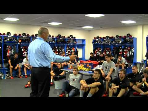 USHL Waterloo Black Hawks Pregame Speech in Omsk