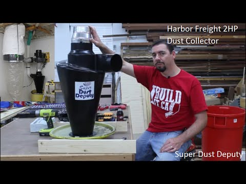 Installing my Modifed Harbor Freight & Oneida Air Systems Super Dust Deputy 2 Stage Dust Collection