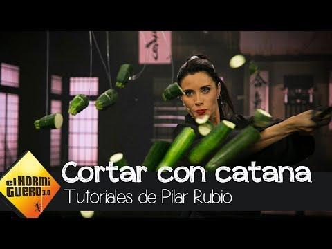 Pilar Rubio, toda una samurái manejando a la perfección una catana - El Hormiguero 3.0