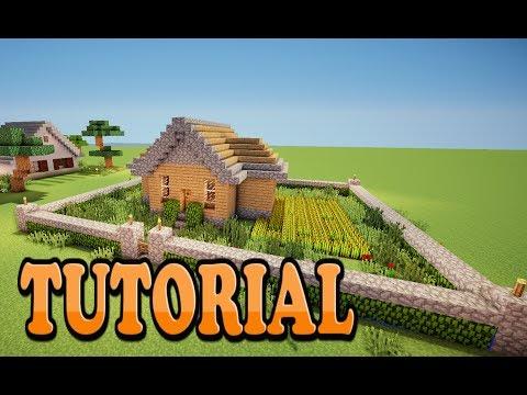Minecraft: Como Hacer una Casa de campo bonita y sencilla Tutorial de Construccion