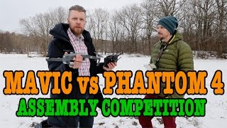 4K DJI MAVIC PRO vs PHANTOM 4 ASSEMBLY COMPETITION!