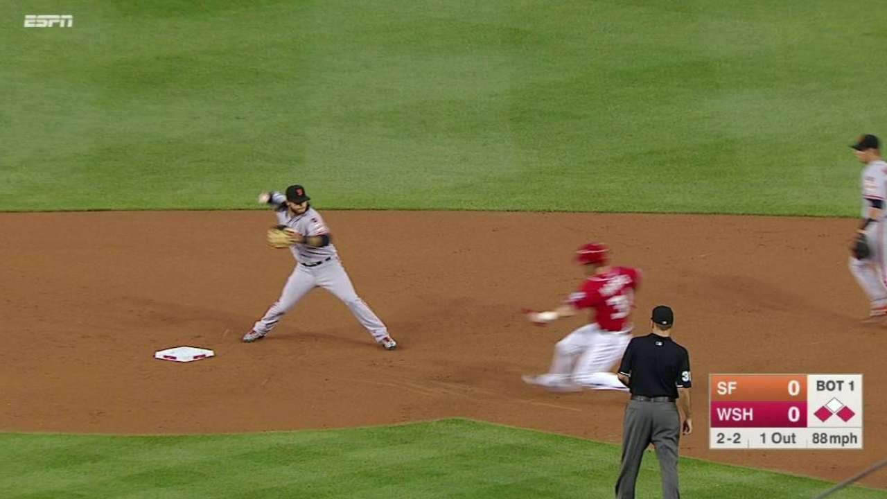 SF@WSH: Vogelsong induces inning-ending double play