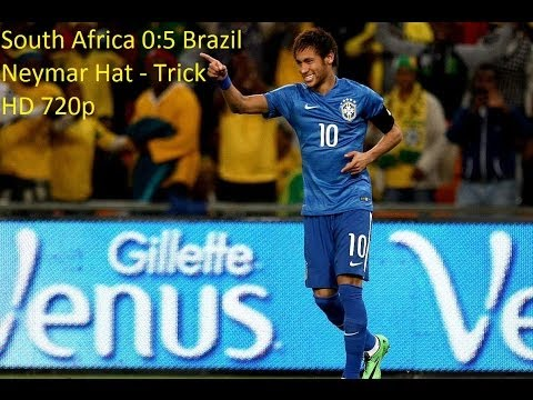 South Africa vs Brazil - ЮАР vs Бразилия 05.03.2014 | 0-5 All Goals Neymar Hat-Trick 2014 HD