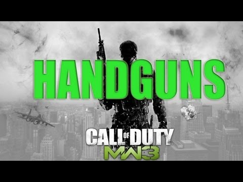 MW3 HANDGUNS CONFIRMED - Modern Warfare 3 Pistols & Handguns Pictures Today This Week NEW