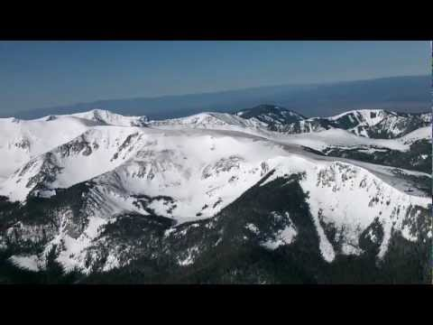 Mountain flying around Questa and Taos, New Mexico