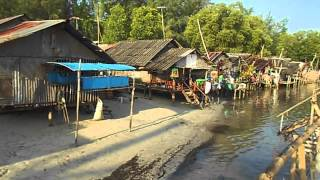 Sea Gypsy (Chao Leh) Village in Saladan, Koh Lanta (Ko Lanta), Krabi, Thailand. เกาะลันตา