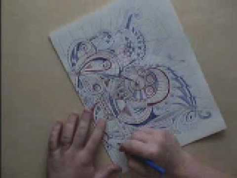 """butterfly"" Time-lapse drawing using symmetry"