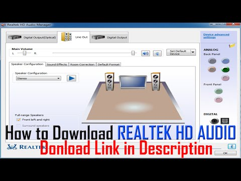 How to Download Realtek HD Audio Manager (Installed Users ONLY - R.D)