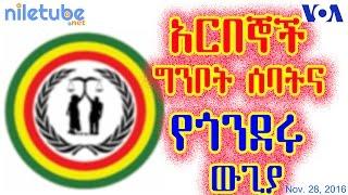 አርበኞች ግንቦት ሰባትና የበጎንደሩ ውጊያ Patriot Ginbot 7 & Gonder fight - VOA Amharic (November 28, 2016)