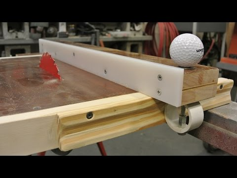 Homemade table saw and fence