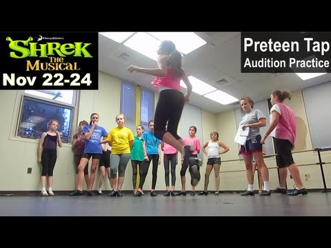 """Stage Right -- Preteen Tap Class Learns """"Shrek"""" Audition Combination"""
