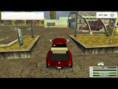 Farming simulator 2013 mod review gmc dump truck dodge 3500 ifor williams trailer
