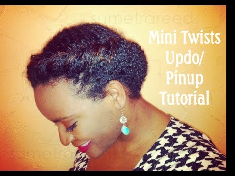(17) Natural Hair Journey ~ Mini Twists Updo/Pinup