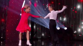 Dinky dancing duo Lexie and Christopher DAZZLE BGT Semi Finals 2018