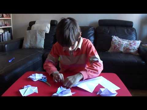 Cómo hacer ranas de papel