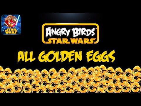 ALL Golden Eggs - Angry Birds Star Wars - How to find Droid Levels