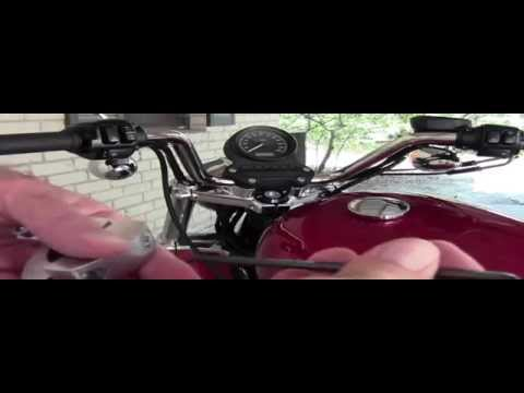 Motorcycle Windshield Install Handlebar Mount