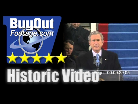 Stock Footage President George W. Bush second Inaugural Address January 20, 2005.