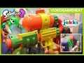 """SPLATOON BLASTERS with REAL LIFE INK REVEALED """"Splattershot & Quick Shot"""" at Toy Fair NY 2017"""