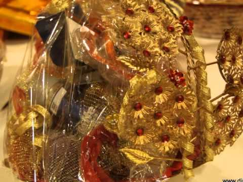 Gift Baskets For Indian Weddings : Trousseau Packing, Gifts Wrap, Corporate Gifts - YouTube