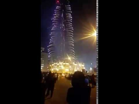 [New Year at burj Khalifa-Dubai] Video