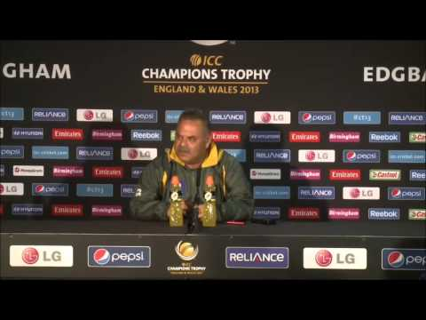 Dav Whatmore Post Match Press Conference, PAK v IND, ICC CT, 15/6/13