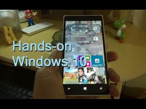 Hands-on Windows 10 for Phones em Português-BR