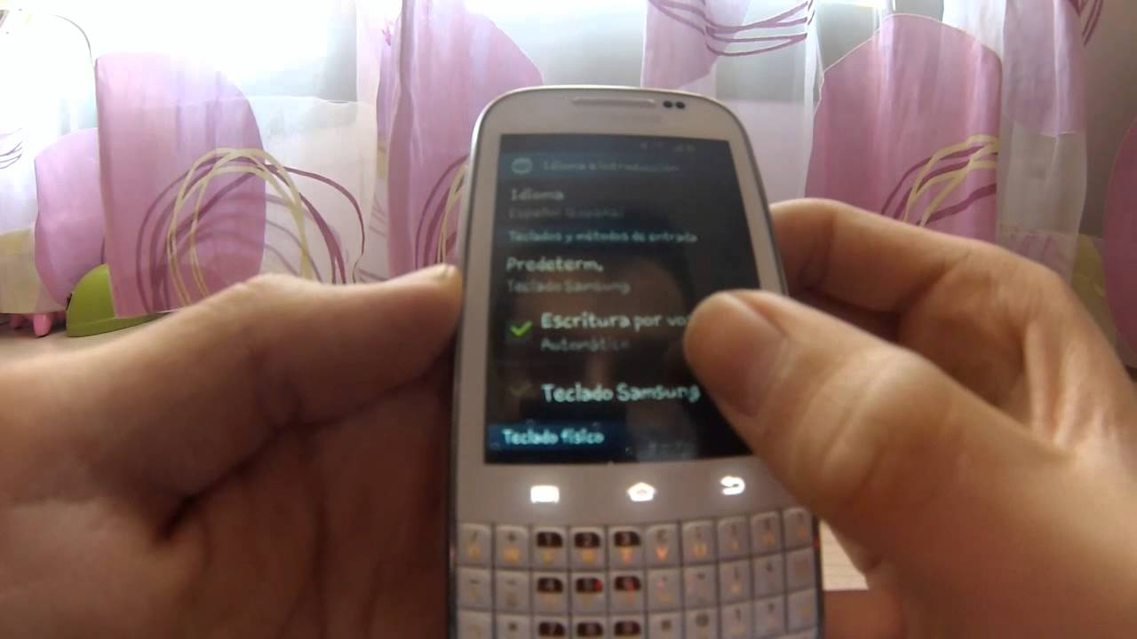 Samsung Galaxy Chat Teclado