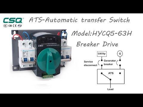 การทดลองการใช้งานของ ATS Model:HYCQ5-63H(ขนาด 32 Amp)