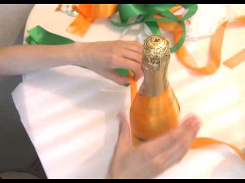 Как сделать красивые свадебные бутылки?