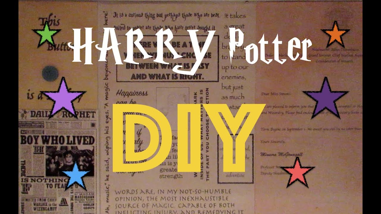 Harry potter diy ideas l home decor ideas youtube for Decoration harry potter