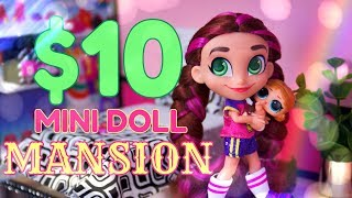 DIY - How to Make: $10 Mini Doll Mansion Dollhouse! | SIX Different Rooms