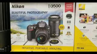 Costco! Nikon D3500 Kit w/ 2 lens , case and extra battery! $499!