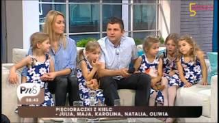 Kieleckie Pięcioraczki w Pytaniu na śniadanie 8.06.2013