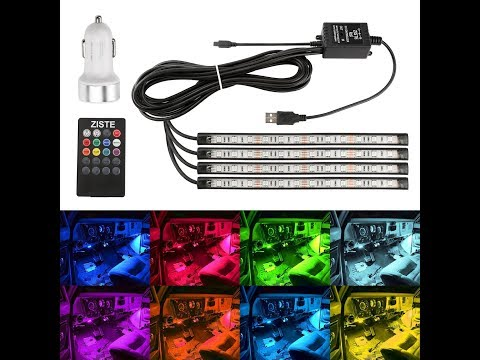 [ZISTE] RGBLEDテープ USBタイプ 愛車に取り付け