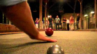 Campo Di Bocce - Bocce Ball Tourney Trick Shot!