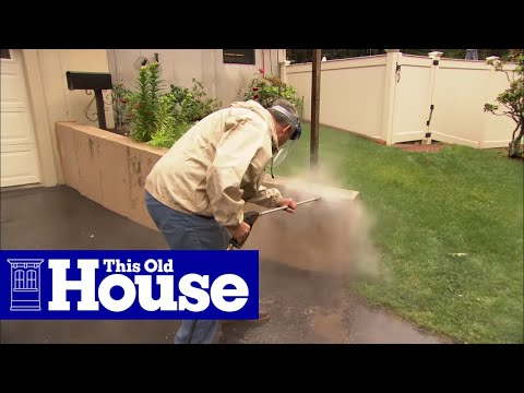 How To Cover A Concrete Wall With Stone Veneer This Old House Youtube