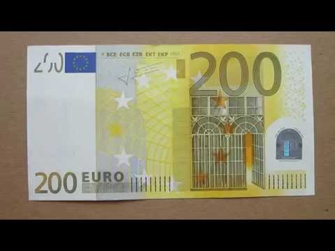 200 Euro Banknote (Two Hundred Euro / 2002), Obverse & Reverse