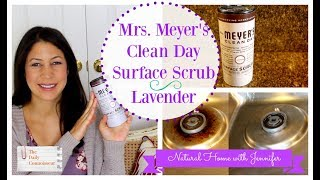 Mrs. Meyer's Surface Scrub in Lavender   Natural Home with Jennifer