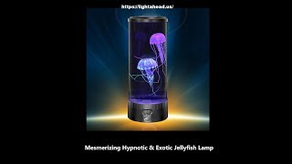 Lightahead® LED Fantasy Jellyfish Lamp Round with 5 color changing light effects