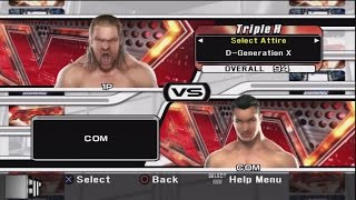 WWE Smackdown vs Raw 2008 Character Select Screen Including All Unlockables