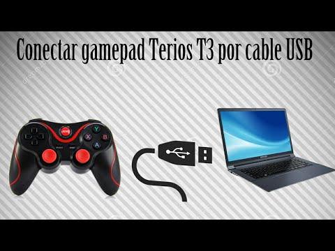 Como conectar el Gamepad Terios T3 a Pc mediante USB - No Bluetooth - Tutorial