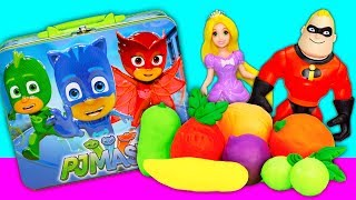 PJ Masks and Incredibles 2 Playdoh Fruit Surprise with Paw Patrol and Puppy Dog Pals