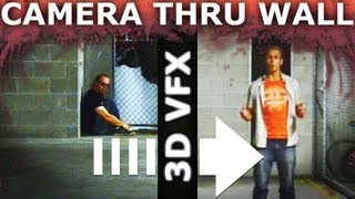 Camera Through Wall or Floor - Adobe After Effects 3D Projection VFX Tutorial